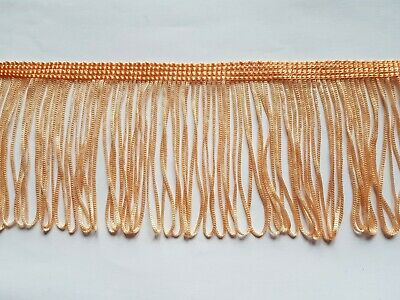 8 Cm 80 Mm 3  Width Peach Loop Tassel Trim Trimming Edging Upholstery Craft • 0.99£