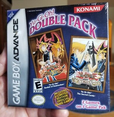 YUGiOH DOUBLE PACK GAMEBOY ADVANCE WITH CARDS - NEW MINT FACTORY SEALED • 147.32£