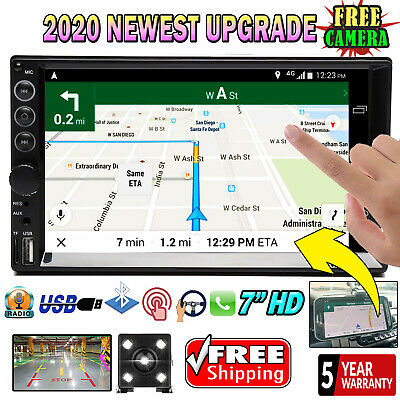 $87.40 • Buy HD 2 Din Car Stereo Radio Mirror Link For GPS BT Touch Screen 7  & Backup Camera