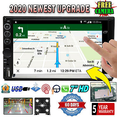 $87.40 • Buy 2 Din Car Stereo Radio HD Mp5 Touch Screen Mirror Link For GPS +Camera Universal