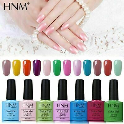 HNM Colour Gel Polish Lacquer Varnish Manicure Nail Art Base Top Coat Set UV LED • 2.99£