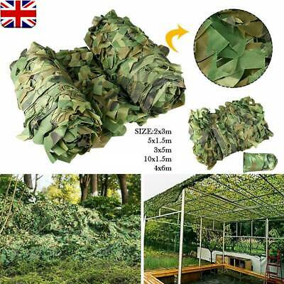 Army Camouflage Net Camo Netting Camping Shooting Hunting Hide Woodland Game Net • 13.99£