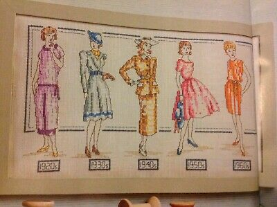 (A) Vintage Fashion Glamour Lady Sampler Cross Stitch Chart • 1.99£