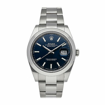 $ CDN11294.27 • Buy Rolex Datejust 41 Auto Steel Mens Oyster Bracelet Watch 126300