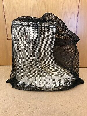 MUSTO White Yacht Sailing Boots Classic Deck Boat Wellies Rain Boots Size 9 / 43 • 70£