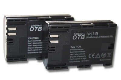 2x BATTERY + CHIP For CANON LP-E6 EOS 6D Mark II • 18£