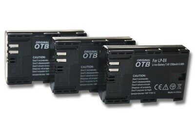 3x BATTERY + CHIP For CANON LP-E6 EOS 6D Mark II • 28£
