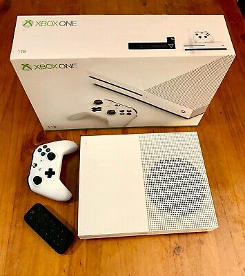 AU112.50 • Buy Microsoft Xbox One S 1TB White Console + 3 Games + Media Remote + Battery Pack