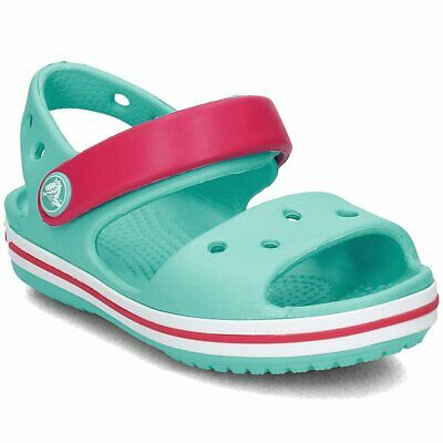 Kids Crocs CROCBAND Sandal Pool/Candy Pink Relaxed Fit Shoes, Style # 12856-4FV • 16.89£