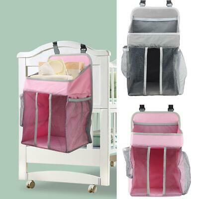 Baby Crib Cot Bed Bedside Hanging Storage Bag Diaper Nappy Organizer Pocket Box • 11.99£