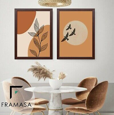 Black Mahogany Picture Frame Flat Wooden Poster Frame A1 A2 A3 A4 A5 All Size • 9.92£