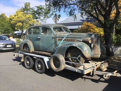 AU8500 • Buy BUICK 8 1937 COMPLETE RUNNING CAR NEEDS RESTORATION Plymouth Pontiac Chev Dodge