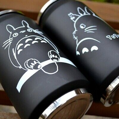AU19.95 • Buy Cartoon Vacuum Thermos Mug Totoro Cola Stainless Steel Anime Action Figures Cup