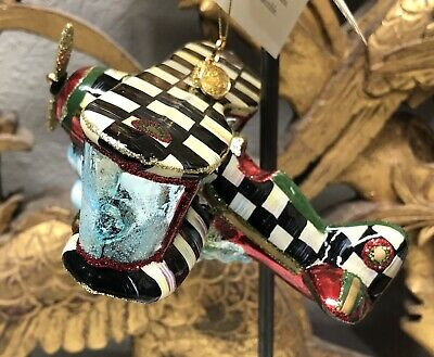 $88.99 • Buy MACKENZIE-CHILDS Shimmering Airplane Ornament - Store Displayed Only Listing A
