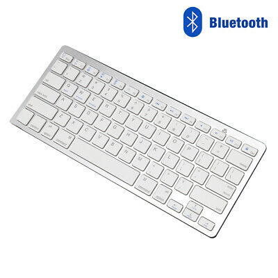 Wireless 3.0Bluetooth Slim Keyboard For IMac/ PC/ Tablet Smart Phone IPad IPhone • 10.69£
