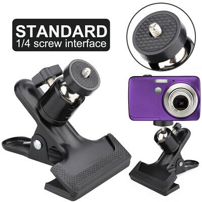 Universal Alloy Strong Clip Clamp Mount Ball Head For Camera Flash Holder Tripod • 6.10£