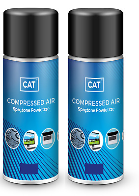 2 X 200ml Compressed Air Duster Gas Spray Cleaner MAX POWER 9 Bar Can • 6.79£