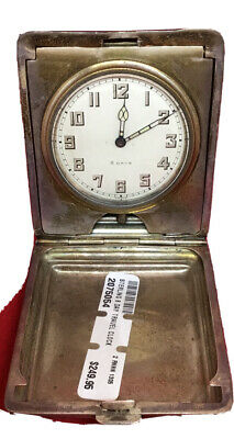 AU285.58 • Buy Antique Sterling Silver 8 Day Travel Watch / Clock