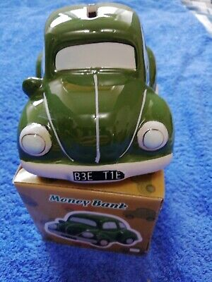 Vw Beetle Green Money Box New In Box Unwanted Gift.. • 10£