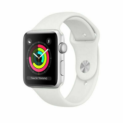 $ CDN208.53 • Buy Apple Watch Series 3 38 Mm Silver Aluminum Case White Sport Band - Grade C