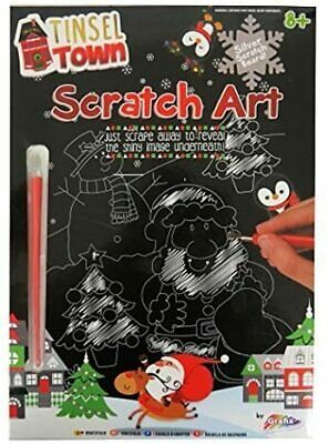 £3.50 • Buy Tinsel Town Scratch Art Silver Foil Pack - Christmas Edition 2020