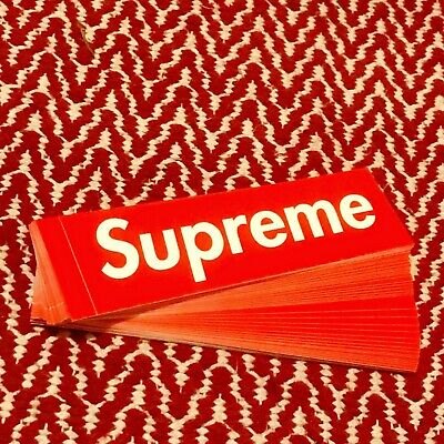 $ CDN75.75 • Buy 100% Authentic Supreme Box Logo Sticker Classic Red 50 Pack - Brand New