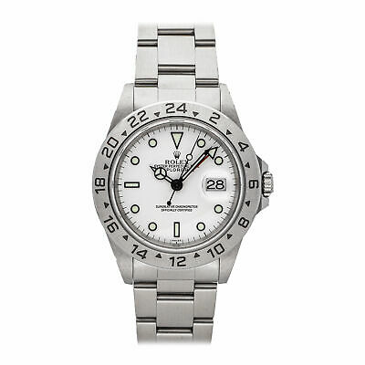 $ CDN10460.61 • Buy Rolex Explorer II Auto 40mm Steel Mens Oyster Bracelet Watch Date GMT 16570