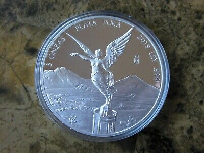 $ CDN339.95 • Buy 2019 Mexico 5 Oz. Silver Proof Libertad Beautiful Mint Condition