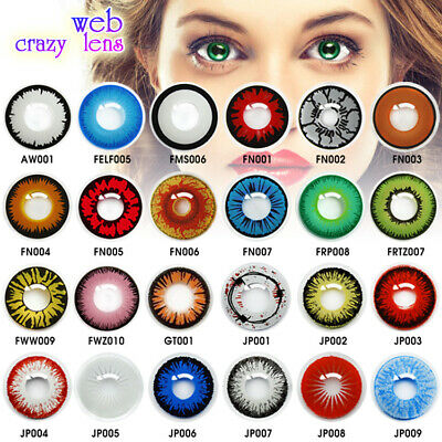 AU29.99 • Buy 🎃 Halloween 🎃COSPLAY Contact Lenses Lens 12 Months USE