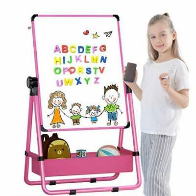 Kid's Art Easel Double Sided Easel For Kids Whiteboard&Chalkboard With • 48.87£