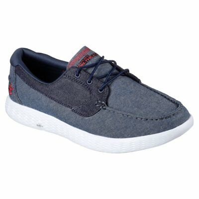 Shoes SKECHERS Man On The Go Glide 53800 Success Denim Jeans Original New • 38.92£