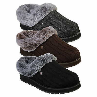 Ladies Skechers Ice Angel Fur Lined Mules • 39£