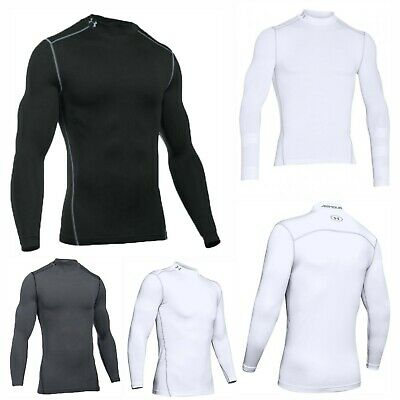 Under Armour Mens UA Sports ColdGear Mock Compression Golf Base Layer Tee Top • 39.99£
