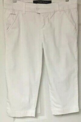 $16.90 • Buy Freestyle Revolution Woman's White Capri Pants Size 9-Cotton Spandex New 18""