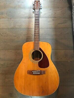 Vintage 1970s Yamaha FG200 Acoustic Guitar Lovely Patina And Tone Just Restrung  • 295£