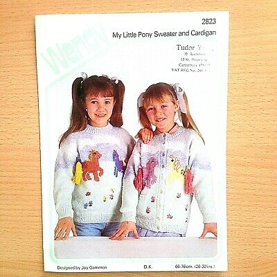 Dk Knitting Pattern Childrens My Little Pony Sweater & Cardigan Fit Chest 26-30  • 3£