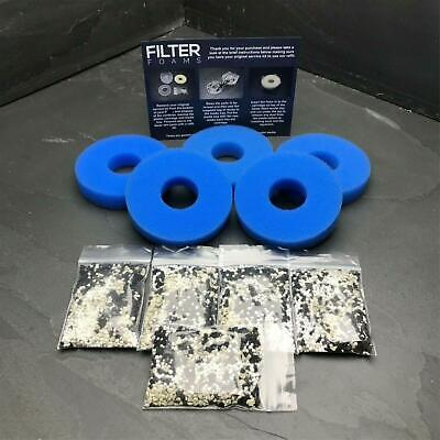 £9.99 • Buy FILTER FOAMS 5 X COMPATIBLE WITH BIORB ANTI ALGAE FILTER SERVICE KIT REFILL