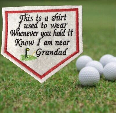 £4.50 • Buy Golf This Is A Shirt I Used To Wear Memory Shirt Patch.