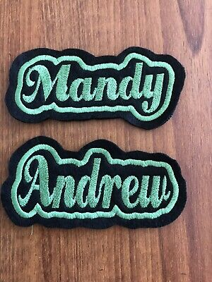 Personalised Embroidered Name Patch/Badge Sew On/ PLEASE READ DESCRIPTION • 2.30£