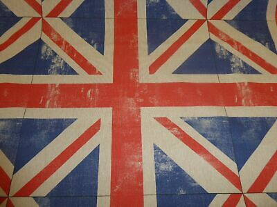 £9.85 • Buy UNION JACK By CHATHAM GLYN - Cotton Fabric - Crafts / Curtains / Cushions