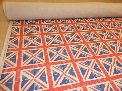 UNION JACK By CHATHAM GLYN - Cotton Fabric - Crafts / Curtains / Cushions • 9.85£