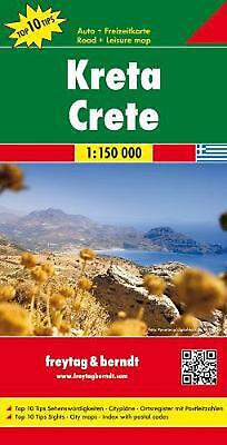 Crete Road Map 1:150 000: FB.G060 (English) Free Shipping! • 11.90£