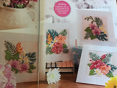 (U) Tropical Orchid Flowers Cards Cross Stitch Chart • 1.99£