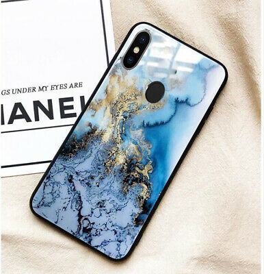 AU15.80 • Buy Huawei Y9 Prime 2019 Y7 Pro 2019 Case Cover Blue Marble Tempered Glass Back