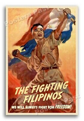 $8.95 • Buy 1943 The Fighting Filipinos Philippines WW2 Poster - 12x18