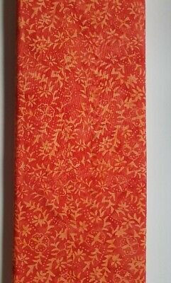 Fat Quarter Batik Cotton Fabric Shades Of Orange • 2£