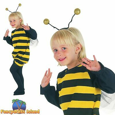 KIDS CUTE BUMBLE BEE BUZZY - Age 2-3 - Boys Girls Toddler Fancy Dress Costume • 7.99£