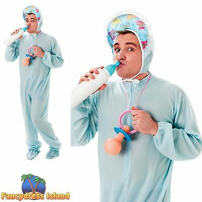 FUNNY BABY GOOFY SLEEPSUIT STAG NIGHT - One Size - Mens Fancy Dress Costume • 17.69£