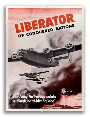 $8.95 • Buy 1943 B-24 Liberator Army Air Forces Bomber Vintage Style WW2 Poster - 11x14