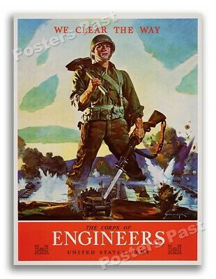$8.95 • Buy 1943 The Corps Of Engineers Vintage US Army WW2 Poster - 11x14
